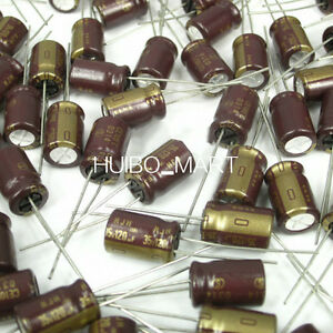 Elna 120uf 35v Rjh Audio Grade Electrolytic Capacitors 105 50 Pcs 100 Pcs