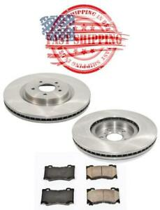 Front Brake Rotor W Brake Pads For Infiniti Fx50 G37 M37 For Nissan 370z 355mm