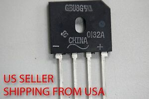 10pcs Gbu8g Single phase Bridge Rectifier Vishay Free Shipping Us Seller