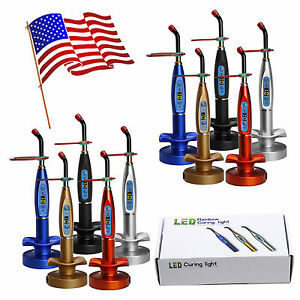 Usa 10pcs Dental Wireless Cordless Led Curing Light Cure Lamp 5 Colors