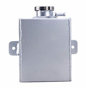 Polished Aluminum Coolant Expansion Tank Radiator Overflow Recovery Tank 1 2l