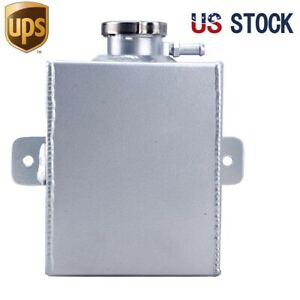 Aluminum Coolant Expansion Tank Radiator Overflow Recovery Tank 1 2l
