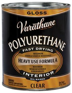 Varathane Polyurethane Clear Gloss 1 Qt Low Voc Pack 2