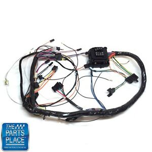 1972 Chevelle Monte Carlo Dash Harness Complete With Warning Lights