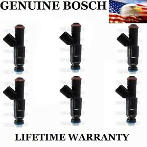 Genuine Bosch Set Of 6 Fuel Injectors For Chevy Equinox Pontaic Torrent 3 4l V6