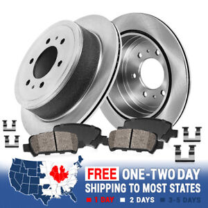 Rear Brake Disc Rotors And Ceramic Pads Kit For 2005 2012 Nissan Pathfinder