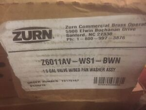 Zurn Z6011av ws1 bwn 1 6 Gallon Valve W bedpan Washer Assembly new