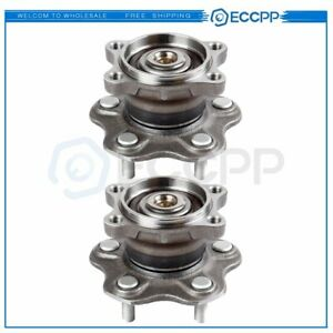 Pair Of 2 Rear Wheel Hub Bearing Assembly For Altima Maxima Quest 5 Lug W Abs