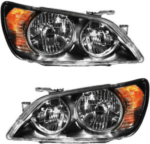 Hid Headlights Headlight Assembly W ballast Pair Set For 04 05 Lexus Is300 Sport