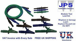 Kewtech Electrical Test Leads Probes Crocodile Clips Unfused