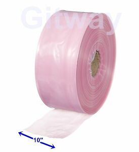 10 X 1075 Anti Static Poly Tubing Tube Plastic Bag Custom Bags On A Roll 4ml