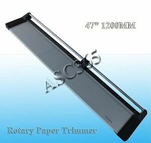 Brand New 47in Rotary Paper Trimmer Cuitting 47in 1200mm Cutter 1extra Blade