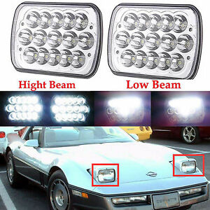 5 X 7 Led Headlight Hi Low Beam Replacement For Chevy Corvette C2 C3 1984 1996