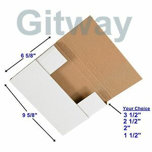 50 9 5 8 X 6 5 8 X 3 1 2 Multi Depth Cardboard Book Mailer Shipping Box Boxes