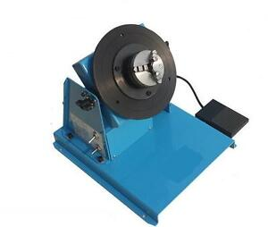 110v 220v 2 16rpm 10kg Light Duty Welding Positioner Turntable With 65mm Chuck