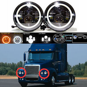 For Freightliner Century Class Pre 2005 Model Led Car Headlight Hi Low Beam Lamp
