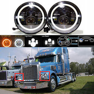 2x7 Inch Led Car Headlight Hi Low Beam Lamp H6024 For Freightliner Century Class