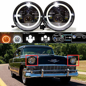 7 Led Headlight Drl Hi Lo Beam Headlamp For Chevy Truck 1947 1957 And 1962 1972