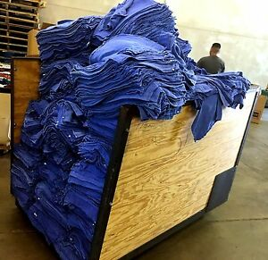 Bulk Blue Huck Towels Glass Cleaning Wiping Janitorial Lintless Surgical 25 Lbs