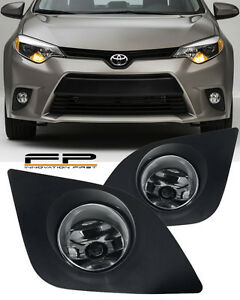 2014 2015 Toyota Corolla Fog Light Lamps Kit Clear Lens Full Complete Kit Lh Rh