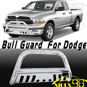 Stainless Chrome Bull Bar Bumper Grill Grille Guard For 09 18 Dodge Ram 1500