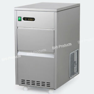 New 60lbs Crystal Clear Restaurant Ice Maker Auto Portable Machine Commercial