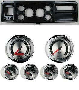 73 79 Ford Truck Carbon Dash Carrier W Auto Meter 3 3 8 American Muscle Gauges