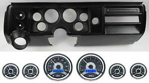 68 Chevelle Black Dash Carrier W Dakota Digital 3 3 8 Vhx 1060 Gauges