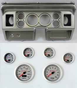 80 86 Ford Truck Silver Dash Carrier W 3 3 8 Concourse Series Silver Gauges