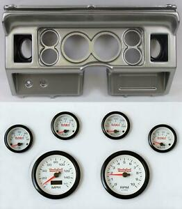 80 86 Ford Truck Silver Dash Carrier W 3 3 8 Concourse Series White Gauges