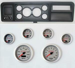 73 79 Ford Truck Black Dash Carrier W 3 3 8 Concourse Series Silver Gauges