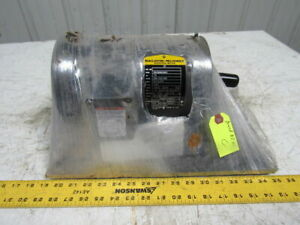 Baldor 1 1 2hp Electric Motor 208 230 460v 3ph 145tcz Frame 1725rpm