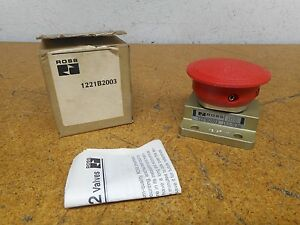 Ross 1221b2003 1 4 3w Nc Red Pneumatic Palm Pushbutton 0 3 10bar New In Box