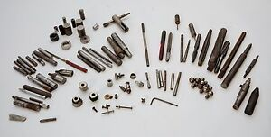 Vintage Machinist Tool Lot 60 Parts punches Bits Spacers drill Press Bits