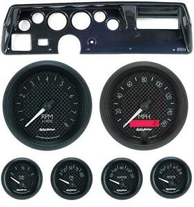 70 72 Chevelle Ss Carbon Dash Carrier W Auto Meter Gt Gauges
