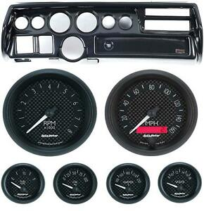 70 72 Chevelle Sweep Carbon Dash Carrier W Auto Meter Gt Gauges
