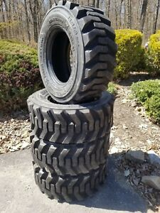 4 New 14 17 5 Skid Steer Tires 14x17 5 14 Ply Rating For Bobcat Case Etc