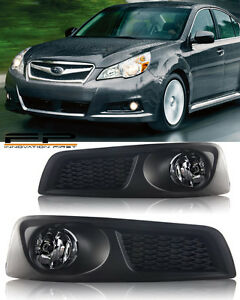 For 2010 2011 2012 Subaru Legacy Bm9 Fog Lights Clear Lens Complete Kit Wiring