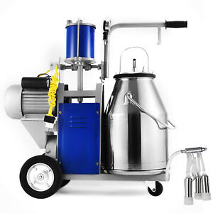 25l Electric Milking Machine For Farm Cows 550w 12 Cows hour 304 Stainless Steel