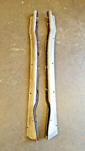 1956 Cadillac 2 Door Coupe Rear Interior Window Garnish Mouldings R L