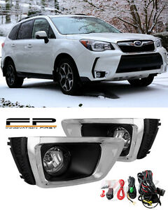 For 2014 2017 Subaru Forester Xt Clear Fog Lights Lamps Complete Kit Switch Wire