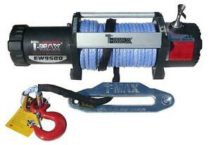 Apu 12500 Lbs Winch 12v Heavy Duty With Remote Control Synthetic Cable