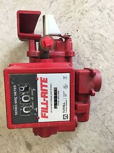 Fill rite Fr700 High Flow Fuel Transfer Pump With Meter 115 Vac 1 3 Hp