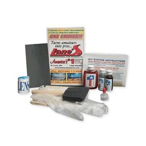 Headlight Lens Restoration Kit Cleaner Restorer Polish Instructions Complete