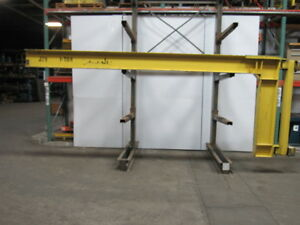 Reliable 1 Ton Cantilever Wall Mount Jib Crane 16 Span 5 Flange