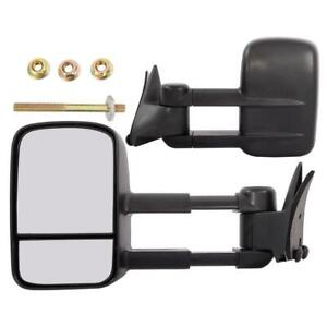 Left Right For 88 98 Chevy Gmc C K 1500 2500 Telescoping Tow Manual Side Mirrors