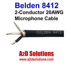Belden 8412 2 Conductor 20 Awg Microphone Cable 500 Foot Black