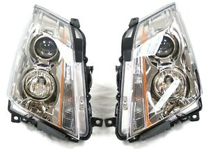 2008 2014 Cadillac Cts Oem Factory Left Right Side Headlights Lamps New