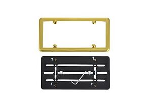 License Plate Bumper Mounting Holder Adapter Tag Bracket Gold Frame For Jeep
