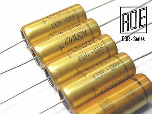 47uf 100v Axial Roe ebr Series Low Esr Low Z At High Frequency X 100 Pieces